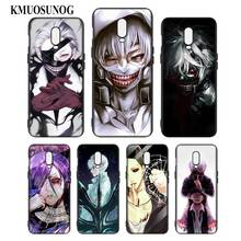 Silicone Case For OnePlus 5T 6 6T Printing Pattern Black Soft Phone Cover Tokyo ghoul Anime Style
