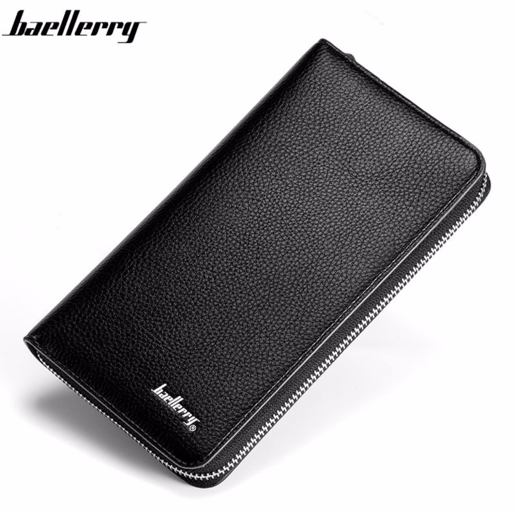 Baellerry Men Big Capacity Organizer Long Zipper Wallet Money Purse Coin Pocket Pochette Card Holder Clutch Bag Leather Pouch fashion baellerry men pu leather portable card holder organizer long wallet money coin purse male pocket pochette clutch bag