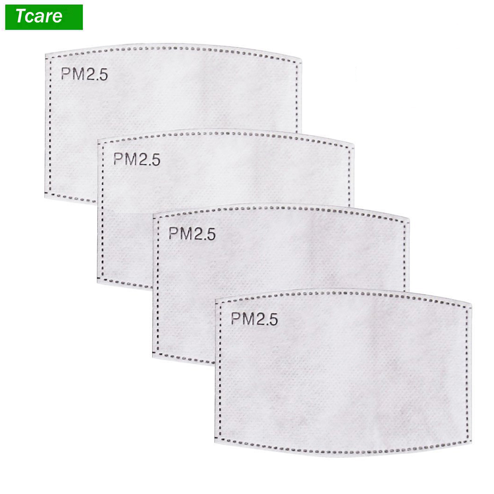 Personal Health Care Radient Tcare 10pcs/lot 5 Layers Pm2.5 N95 Activated Carbon Filter Insert Protective Filter Media Insert For Mouth Mask Anti Dust Mask Health Care