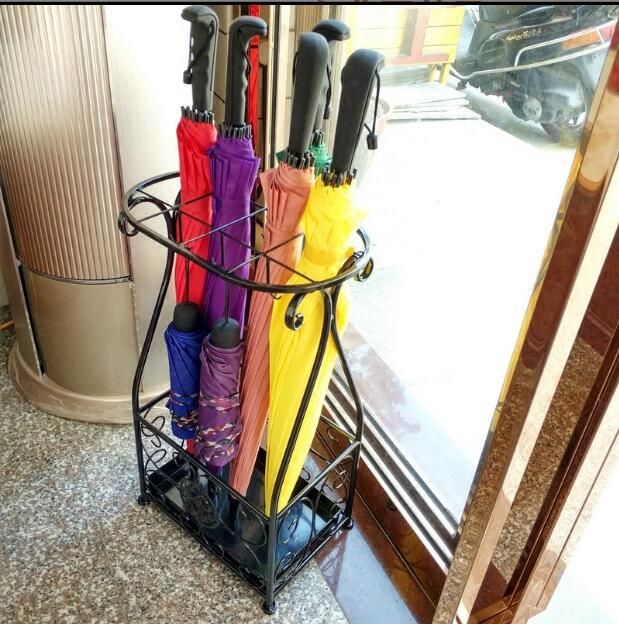 Umbrella stand hotel lobby home iron umbrella drum umbrella bucket storage bucket in Storage Holders Racks from Home Garden