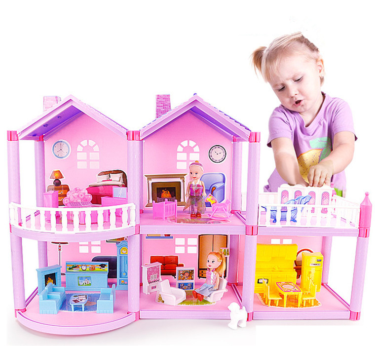 DIY Doll House Princess Dollhouses For LOL Doll Villa Castle With Furnitures Simulation Dream Girl Toy