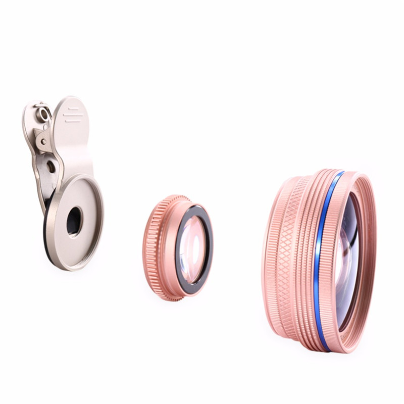 Cell Phone Lenses 0.45X/0.6X Super Wide Angle 12.5x Macro Lens For iPhone 6 Plus 7 5S xiaomi 5 Samsung S7 Edge Camera lens Kit 7