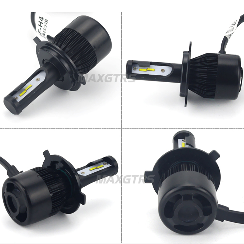 US $18 95 32% OFF LED Motorcycle Headlight Conversion Kit H4 4000LM  Motorbike HS1 light 36W BA20D Replacement Bulb for Ktm Exc Cafe Racer  Harley on