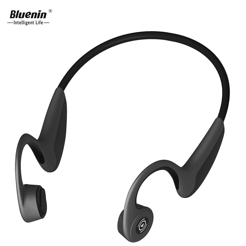Bluenin Bluetooth 5.0 Headphones Bone Conduction Wireless Sport ear phone with Mic Stereo Bluetooth Headset for Running Driving fashion men women outdoor running sport wireless bluetooth headband with mic smart music electronics knit hair band for phone