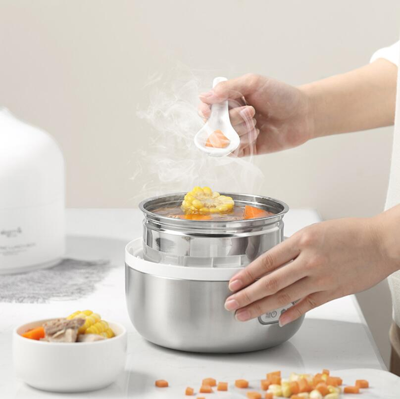 2L Electric Lunch Box Food Warmer Rice Cooker Mini 3 Layers Pluggable Heating Insulation Go To Work Hot Rice Artifact2L Electric Lunch Box Food Warmer Rice Cooker Mini 3 Layers Pluggable Heating Insulation Go To Work Hot Rice Artifact