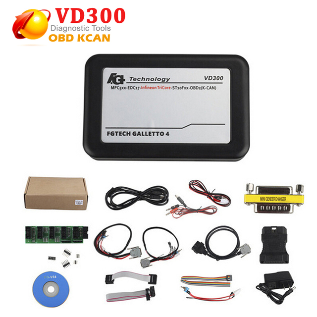 Последние VD300 V54 fg технологий fgtech galletto 2 Мастер v54 FG Tech BDM-Три Основные OBD с BDM функция + USB КЛЮЧ бесплатная доставка