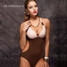 Atlanticbeach 2016 bathing suit Sexy Women Bikini Monokini one piece Swimsuit Padded Swimwear Beachwear bodysuit maillot de bain