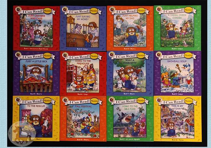 12 books / set I Can Read Little Critters Phonics picture book English Book Children kids pocket story book Age 0-6