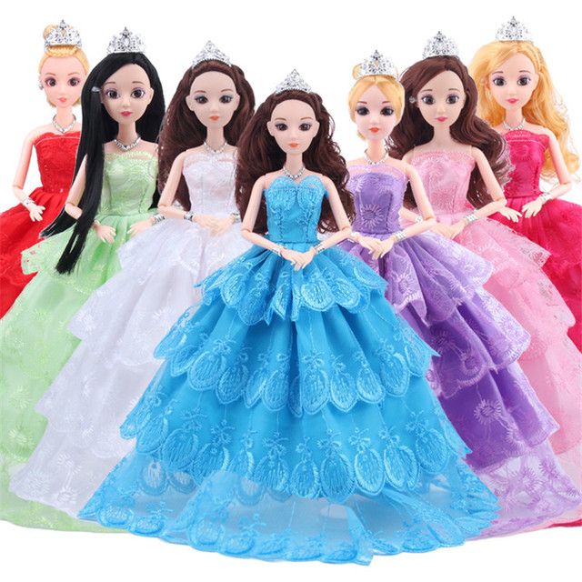 Hot Sell Doll Outfits Top Fashion Wedding Dress Party Gown Clothes ...