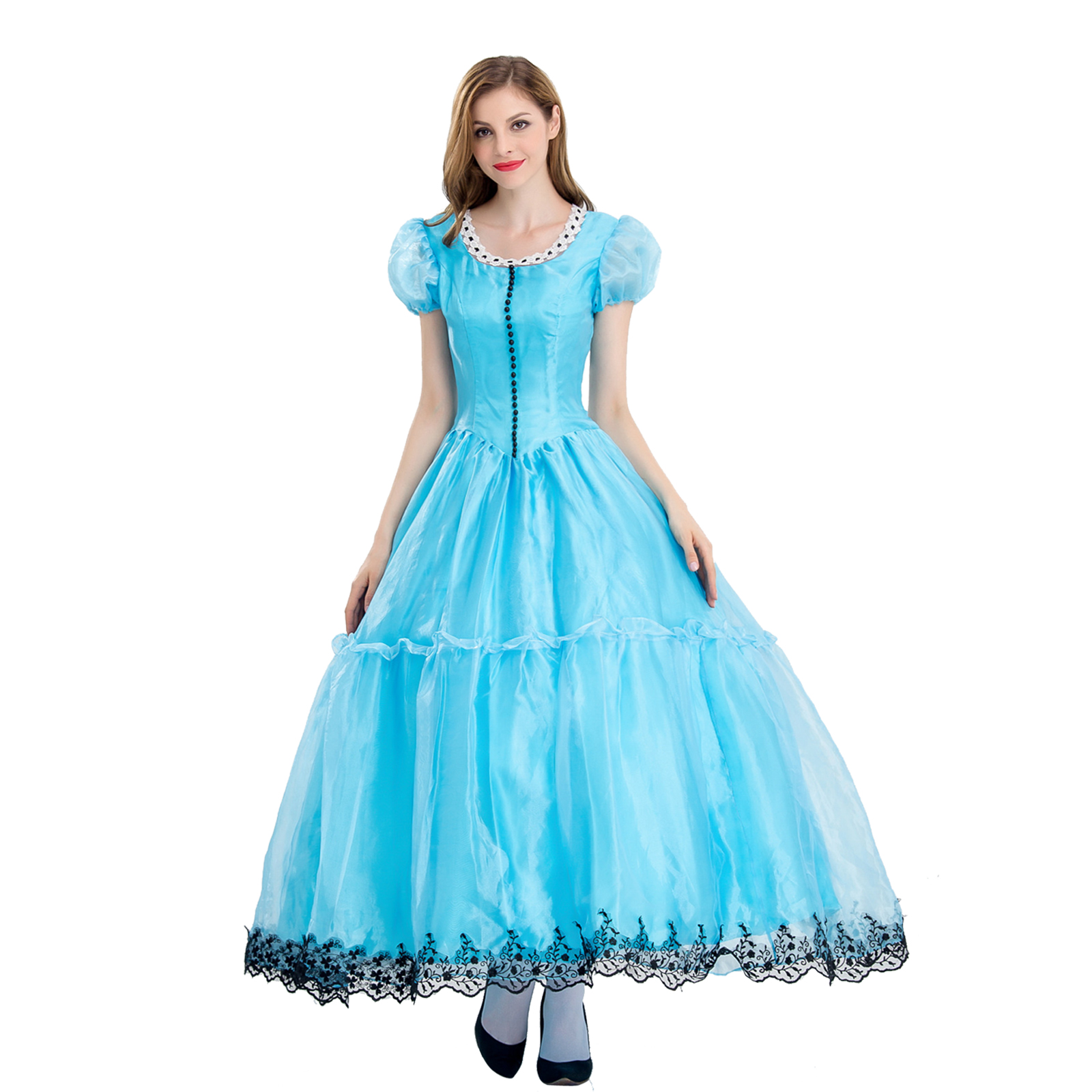 2017 Halloween Cosplay blue Custume for women Party Dress Princess Queen Fancy Pretty Dresses