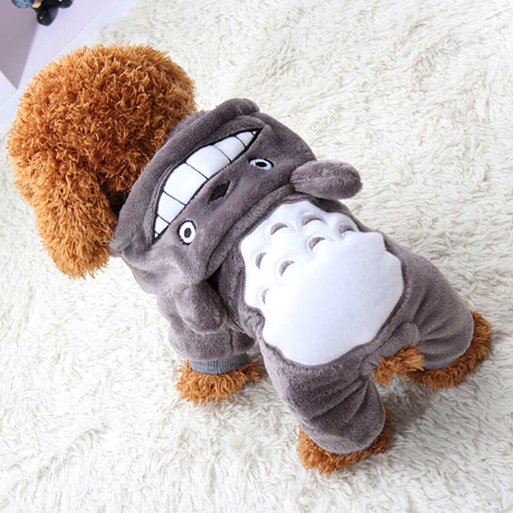 Soft Cartoon Dog Clothes For Small Dogs Warm Autumn Winter font b Pet b font Clothing