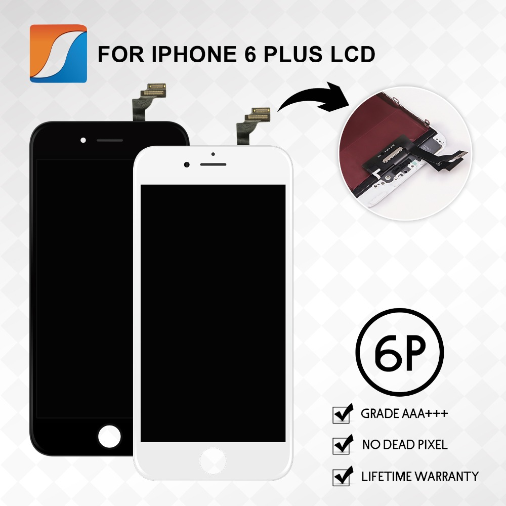 10PCS LOT For iPhone 6 Plus LCD 5 5 Inch Screen Complete Assembly Replacement 100 Brand