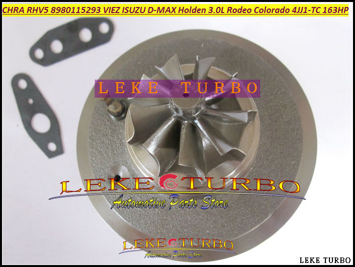 Turbo Cartridge CHRA RHV5 8980115293 8980115295 8980115296 For HOLDEN Rodeo Colorado for ISUZU D-MAX 3.0L 4JJ1T 4JJ1-TC 163HP free ship rhv5 8980115293 vdd30013 viez turbo turbocharger for isuzu d max 3 0l crd for holden rodeo td colorado 4jj1t 4jj1 tc