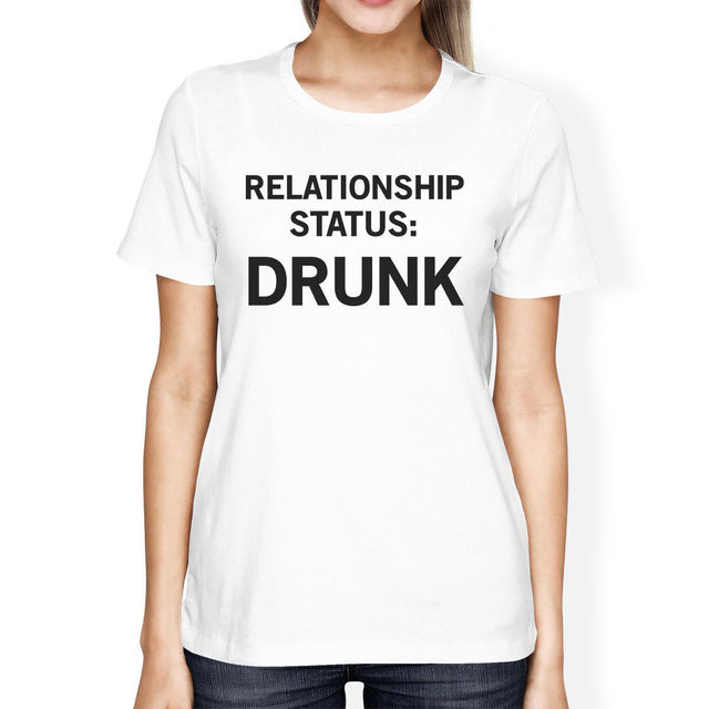 Relationship Status Womens Cute Tee Funny Graphic Trendy Design Fashion  Brand Clothing Cute T Shirts Female