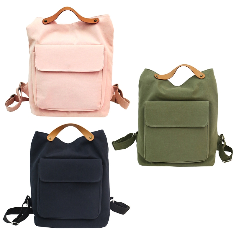 NoEnName_Null High Quality Canvas Backpack Women Girls Backpack Canvas Shoulder School Travel Bag Student Casual Rucksack стоимость