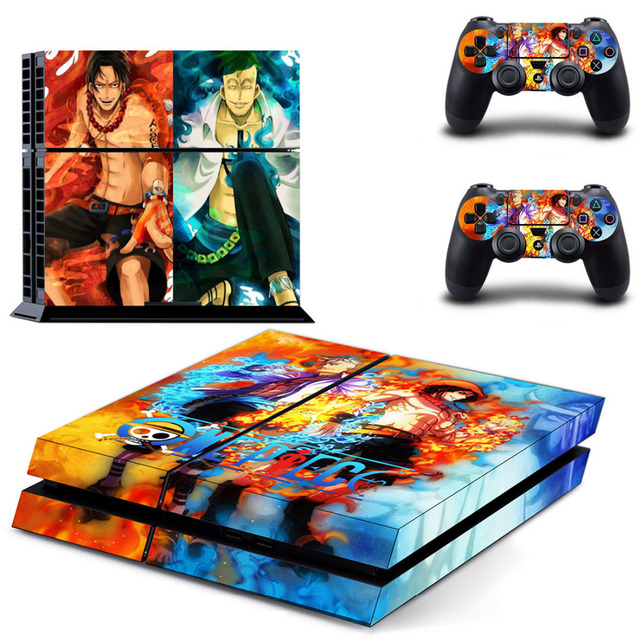 One Piece Luffy PS4 Skin Sticker For Sony PlayStation 4 Console and Controllers 4 Skin Sticker