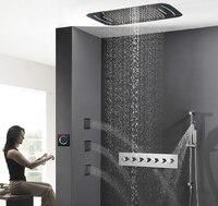 Hideep встроенный осадков набор для душа с свет латунь Для ванной смеситель для душа Ванная комната дождь смеситель для душа комбинированный