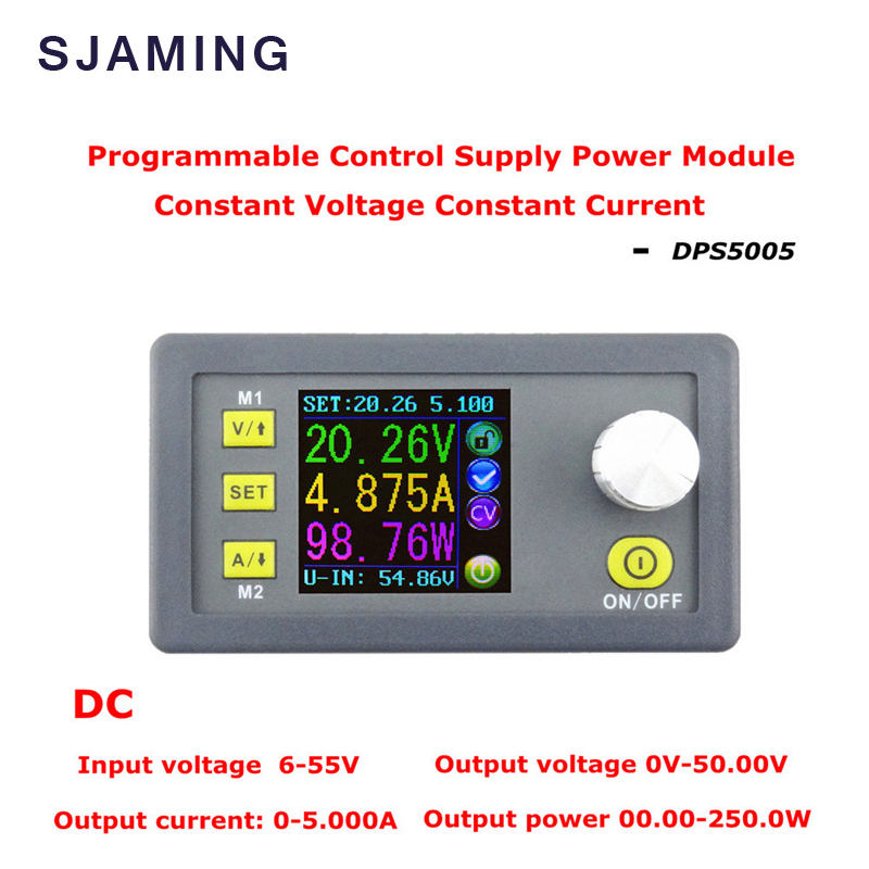 DC DPS5005 Constant Voltage current Step-down Programmable Power Supply module buck Voltage converter color LCD voltmeter maitech dc dc step down constant voltage constant current module yellow