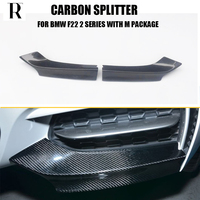 1Pair Carbon Fiber Front Bumper Side Splitter Apron for BMW F22 220i 228i M235i M240i with M Package 2014 2017