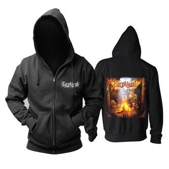 Bloodhoof  korpiklaani  heavy Metal Punk Men's black hoodie Asian Size