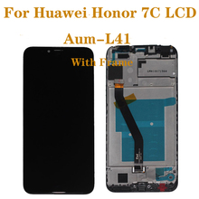 New with frame 5.7 LCD monitor For Huawei honor 7C Aum-L41 LCD display + touch screen mobile phone screen repair parts цена