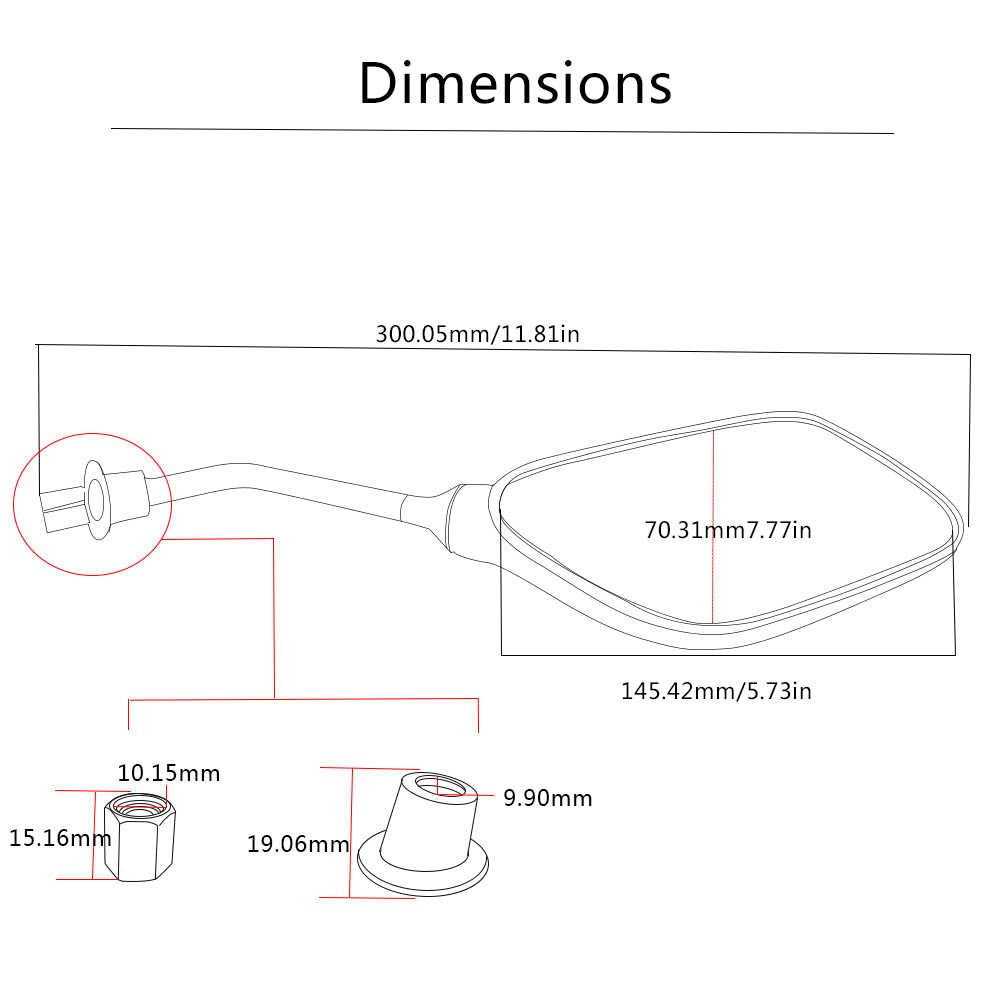 Moto รีไซเคิล 1 คู่กระจกมองหลังราคาถูกสำหรับ honda msx vtx 1300 zoomer dio nc750x cbr 600rr xr 250 crf dax moto hnoda 125