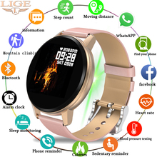 LIGE New Smart Watch Women Waterproof Fitness Tracker Heart rate blood Pressure Monitor Pedometer Sport Bracelet For Android ios цены онлайн