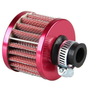 12mm Mini Car Air Filter Car Auto Motor Vehicle Cold Air Intake Filter Turbo Vent Crankcase Breather Red Car Styling Accessaries image