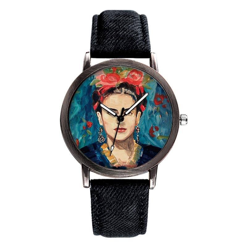 New Brand Top Women Watch Fashion Casual Portrait Dial Plate Quartz Watch Denim With Clock Unisex Relogio Masculino