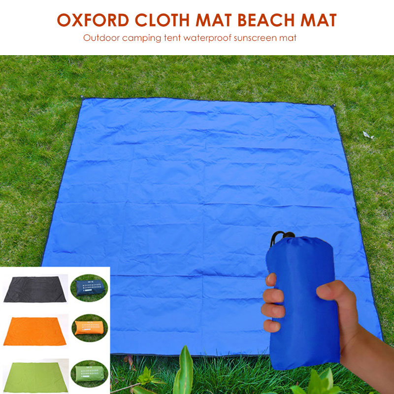 300*300cm 210D Camping Canopy Camping Carpet Picnic Mat Beach Mattress First Aid Travel Rugs for Lawn Floor Pad