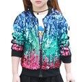 Primavera/Outono Moda Bebê Meninas Outwear Jaqueta Corta-vento Blusão Crianças Jaqueta Outwear Casaco Infantil com Lantejoulas