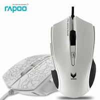 Original Rapoo V20 Optical USB Wired Gaming Game Mouse Pro Gamer Computer Programmable Mice For PCLaptop