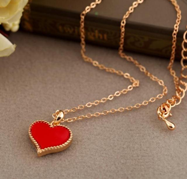 Hot แฟชั่น hot Gossip Girl Serena สร้อยคอหัวใจสีแดงหัวใจรักรุ่น chain สร้อยคอขายส่งจัดส่งฟรี