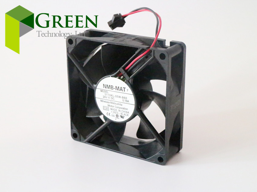 Free Shipping Original NMB 3110KL-05W-B60 8025 80MM 80*80*25MM computer /server case Cooling fan 24V 0.18A with 2pin Price $13.68