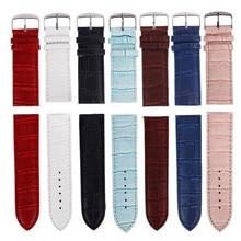 Men Women Watch Bands 12mm,14mm,16mm,18mm,20mm,22mm,26mm Soft Sweatband Leather Watch Strap Steel Buckle Wrist Bands For Clock