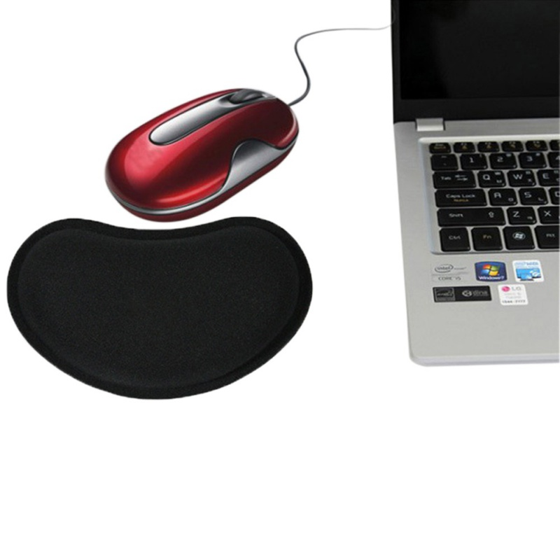 Build-in Soft Sponge Computer Mouse Pad Mat Ergonomic Anti-skid Mousemat Hand Wrist Support Healthy Mousepad For Gaming Laptop