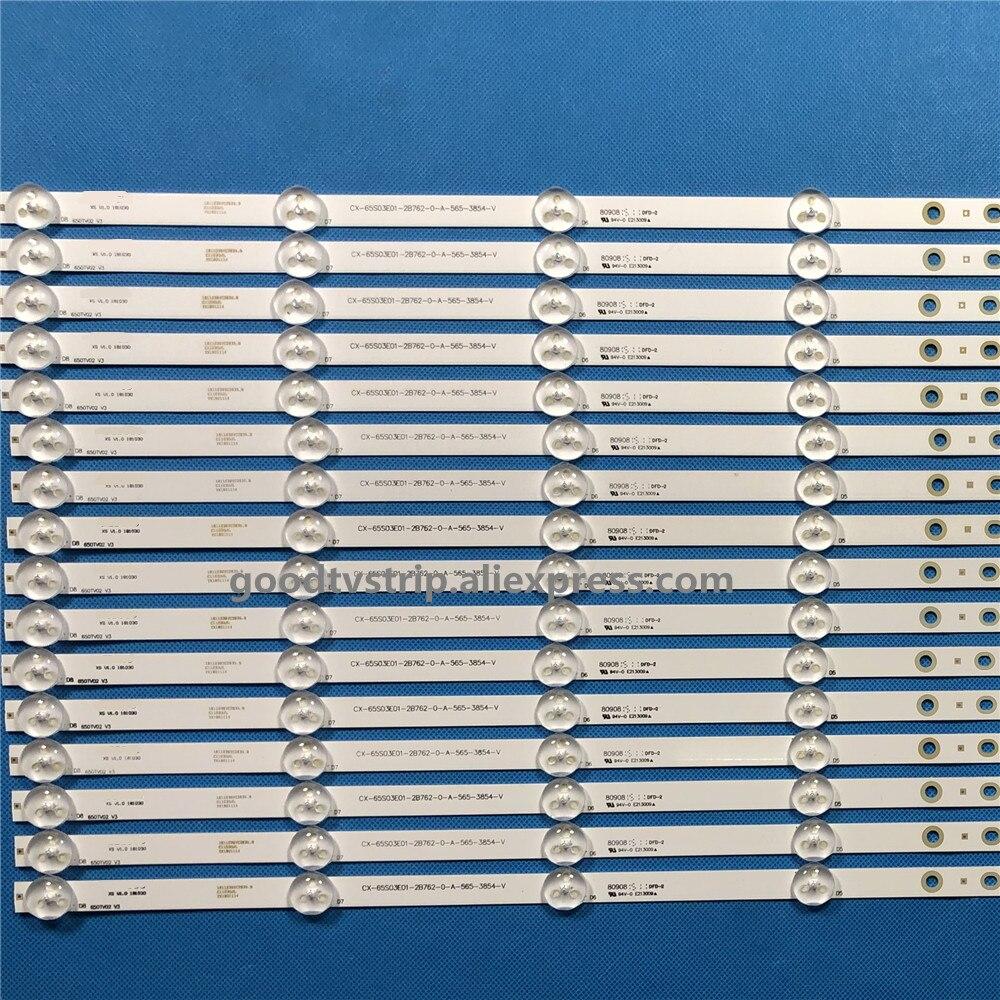 "Image 2 - 16PCS  LED backlight  strip kit bar CX 65S03E01 for Sony 65"" TV KDL 65W857C KDL 65W859C KDL 65W855C-in LED Bar Lights from Lights & Lighting"