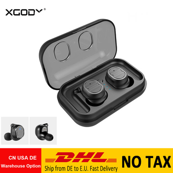 Xgody Tws-8 Wireless Headphones 5.0 Bluetooth Earphone Touch Control Waterproof Earpieces With Mic Handsfree Phone Call Airpods