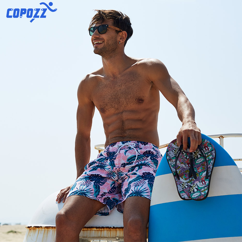 COPOZZ Summer Mesh Quick Dry Men Women Swim   Shorts   Summer   Board   Surf Swimwear Beach   Short   Female Running Gym Plus Size Trunks