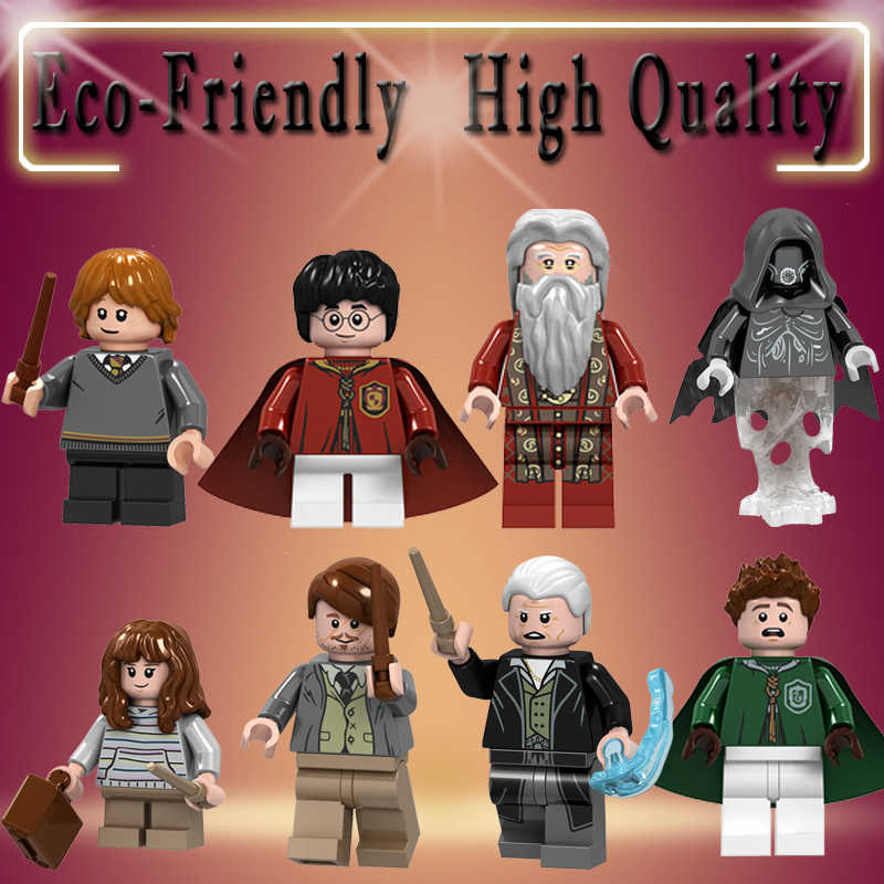 Building Blocks Harry Potter Remus John Lupin Gringelwald Bricks Collection Action Figures For Children Toys L130-137