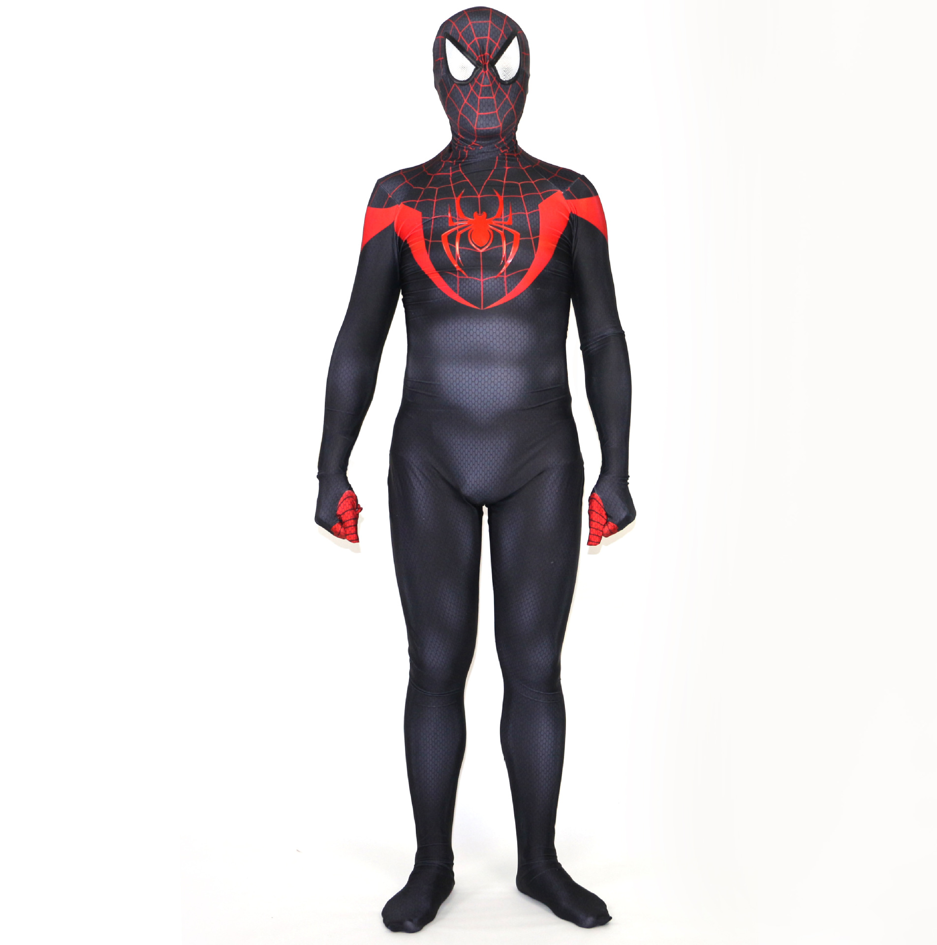miles morales spiderman costume 3d print lycra fullbody zentai suit spiderman cosplay halloween costume
