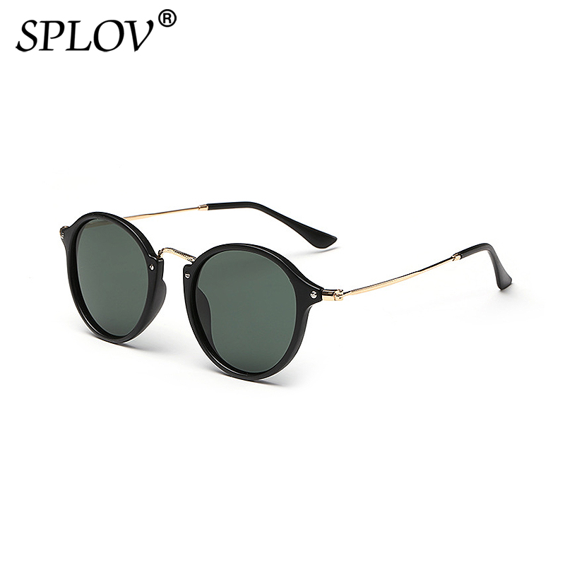 SPLOV Round Polarized Sunglasses for Men Women Vintage Coating Mirrored Sun Glasses Brand Designer Female Eyewear Oculos De Sol