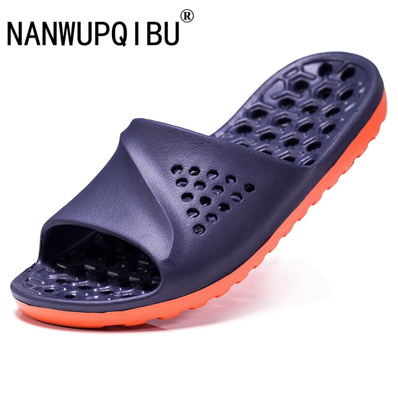 Mens Badslippers Casual Non-slip Slides Summer Massage Flip Flops Bathroom Beach Slipper Fashion Soft Sole Man Massage Sandals