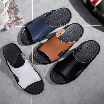 ALCUBIEREE Brand Slippers Men Summer Flat Sandals Casual Beach Flip Flops Shoes Non-slip Indoor House Home Slippers Big Size 48 1