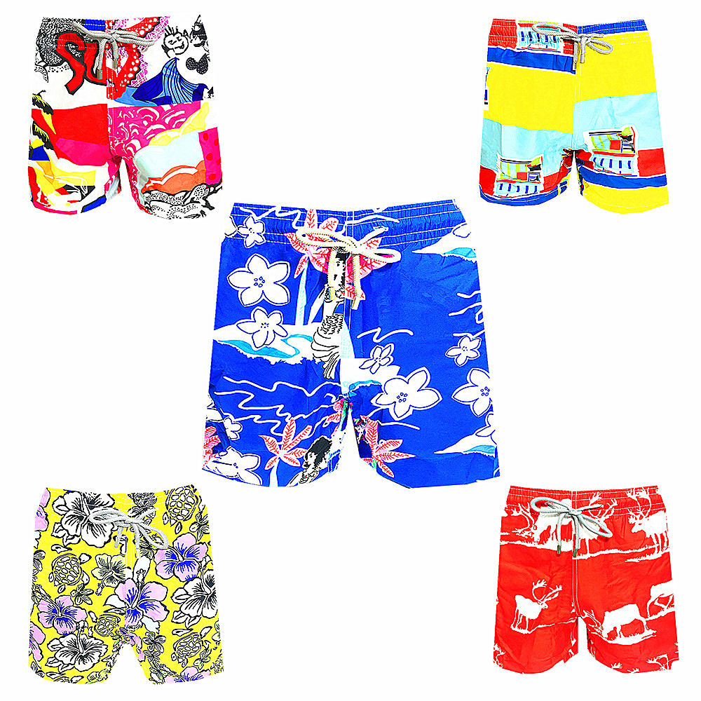 5 Pcs/lot 2019 Brand Vilebre Beach   Board     Shorts   Men 100% Quick Dry Boardshorts Male Sexy Swimwear Bermuda Mens Bathing   Shorts