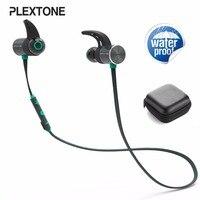 PLEXTONE BX343 Double Battery V4 1 Magnetic Wireless Bluetooth Earphone Sport Waterproof Headset Endurance Metal Music