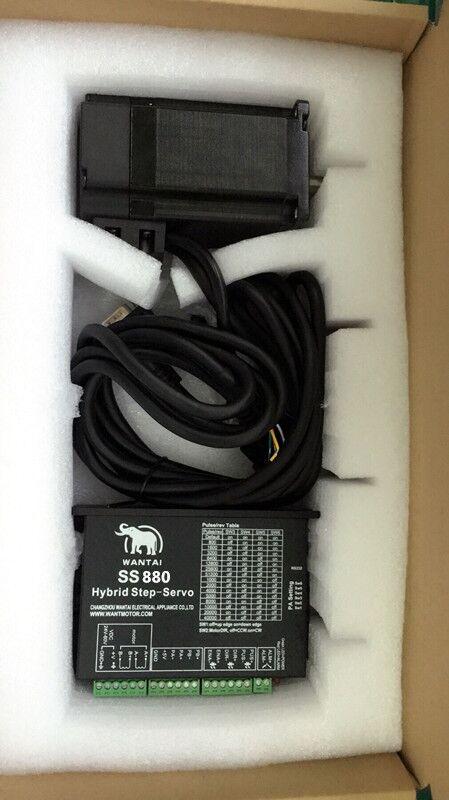 EU FREE Nema 34 closed loop stepper motor 9NM 6A Servo driver SS880 3m cables cnc