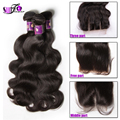 G Star Unprocessed Malaysian Body Wave Virgin hair weaves with silk Lace Closure Helen 3 bundles closure with bunldes cheap sale