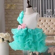 Детские платье принцессы девушки цветка платье детское горький блошница платье