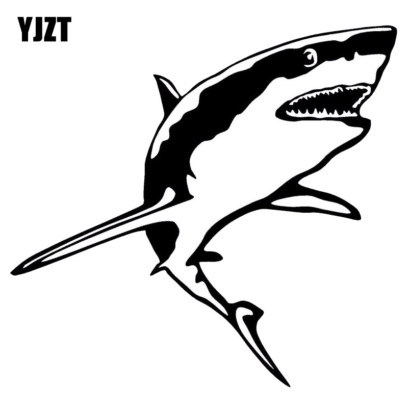 Yjzt 15 2 14 2cm Great White Shark Vinyl Decal Funny